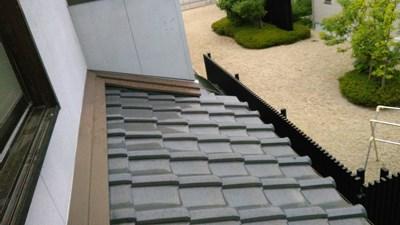 三重県四日市市内雨漏りの点検修理の確認で訪問。