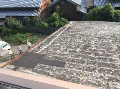 台風被害 街の屋根や四日市 屋根補修