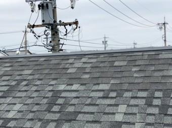 台風被害 屋根修繕 街の屋根や四日市