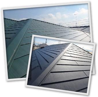 素材が分かれる金属屋根